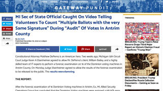 Fact Check: Michigan Officials Were NOT 'Caught On Video' Forcing Audit Volunteers To Count 'Multiple Ballots With Same Signature'