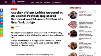 Fact Check: Aaron Mostofsky, The 'Caveman Capitol Protester,' Is NOT A 'Violent Leftist' And Antifa Member