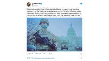 Fact Check: National Guard Commanders Have NOT Confiscated All Ammo And Magazines From Troops Guarding The Capitol
