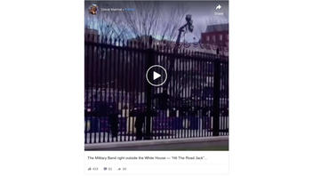 Fact Check: Military Band Was NOT Playing 'Hit The Road Jack' Outside White House Gates