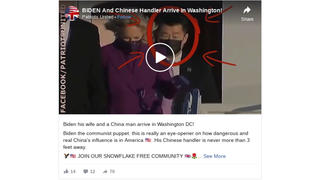 Fact Check: 'China Man' With Joe Biden Is NOT His 'Chinese Handler' - He's A Secret Service Agent