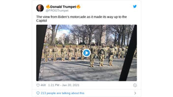 Fact Check: Inauguration Day Video Does NOT Show National Guard Members Turning Their Backs To Show Disrespect To President Biden -- They Are Busy Guarding Him