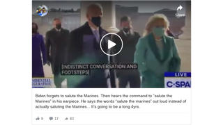 Fact Check: President-Elect Biden Did NOT Forget To 'Salute The Marines'