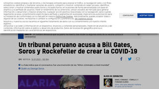 Fact Check: Despite Peruvian Court Declaration, There Is NO Evidence Soros, Gates and Rockefeller Created COVID-19