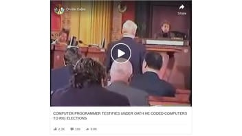 Fact Check: Testimony On Programming That Can Allegedly Rig Elections Is From 2004, NOT 2020
