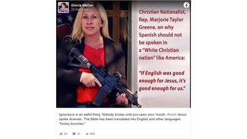 Fact Check: Rep. Marjorie Taylor Greene Did NOT Say 'If English Was Good Enough For Jesus, It's Good Enough For Us'