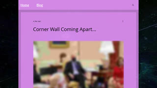 Fact Check: The Corner Wall Is NOT Coming Apart On The Oval Office 'Film Set' - Photo Shows A Door In The Round Room
