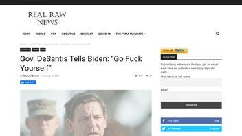 Fact Check: Gov. DeSantis Did NOT Tell Biden: 'Go F--k Yourself'