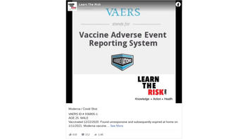 Fact Check: List Of Informal COVID-19 Vaccine Reaction Reports is NOT Evidence Deaths Were Caused By Vaccines