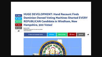 Fact Check: Hand Recount Of 2020 Election Results In Windham, New Hampshire Is NOT Proof Of Election Fraud By 'Dominion Voting Machines'