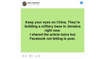 Fact Check: China Is NOT 'Building A Military Base In Jamaica Right Now'