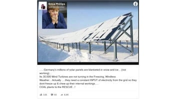 Fact Check: Germany's Wind Turbines And Solar Panels Did NOT Suddenly Stop Working Due To Weather Conditions