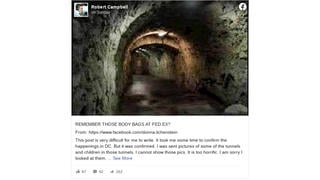 Fact Check: Thousands Of Dead And Dying Children Were NOT Pulled From Tunnels Under Washington, D.C.