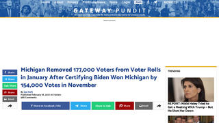 Fact Check: Michigan's Removal of 177,000 Voters From Its Rolls Is NOT Proof Of Fraud