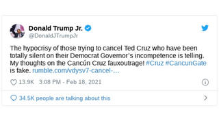 Fact Check: Donald Trump Jr. Did NOT Say The Governor Of Texas Was A Democrat