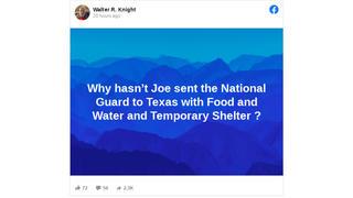 Fact Check: Joe Biden Did NOT Send National Guard To Texas - He Can Only Send Homeland Security & FEMA