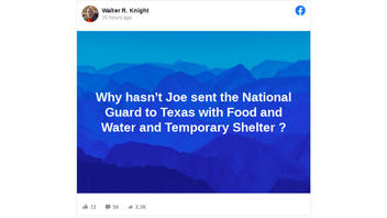 Fact Check: Joe Biden Did NOT Send National Guard To Texas - He Can Only Send Homeland Security & FEMA