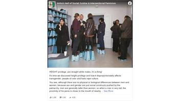 Fact Check: Photo Does NOT Depict Backlash To 'Height Privilege' -- It's An Art Piece About Seeing Literally Eye-To-Eye