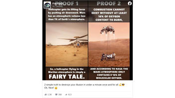 Fact Check: 'Perseverance' Landing Craft And 'Ingenuity' Helicopter Are NOT Rendered Flightless 'Fairy Tale' By Mars' Atmosphere