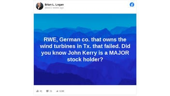 Fact Check: John Kerry Is NOT A Major Stockholder In RWE, Which Has Wind Turbines In Texas