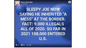 Fact Check: 9,000 'Illegals' In 2020 And 108,000 In 2021 Are NOT Accurate Numbers Of Border Apprehensions And Entries Into The U.S.