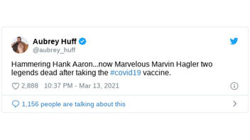 Fact Check: NO Evidence Hank Aaron, Marvelous Marvin Hagler Were Killed By The COVID-19 Vaccine