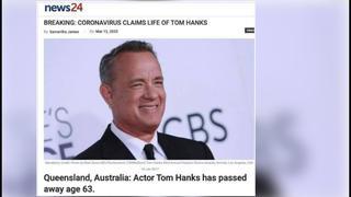 Fact Check: Tom Hanks Did NOT Die Of Coronavirus In March Of 2020