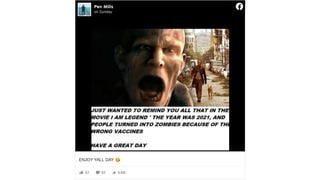 Fact Check: 'Wrong Vaccines' Did NOT Turn People Into Zombies In 'I Am Legend' Film