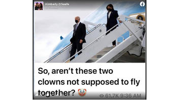Fact Check: President Biden And VP Harris Did NOT Travel Together On Air Force One -- They Flew Separately Then Met On AF1