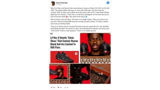 Fact Check: Nike Did NOT collaborate With MSCHF And Lil Nas X On 'Satan Shoes' -- They Are Refashioned Nike Sneakers