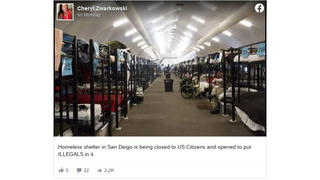 Fact Check: Homeless Shelter In San Diego Is NOT Being Closed to US Citizens To Make Room For Asylum Seekers