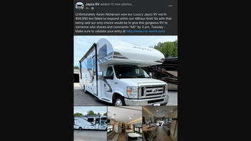 Fact Check: Someone Did NOT Win An RV Or Car, But Failed To Respond, So You CANNOT Claim It By Sharing A Facebook Post
