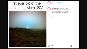 Fact Check: The First-Ever Picture Of A Sunset On Mars Was NOT Taken In 2021