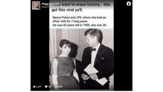 Fact Check: NO Evidence Nancy Pelosi Had An Affair With JFK