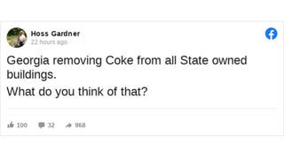 Fact Check: Georgia Is NOT Removing Coke From All State-Owned Buildings