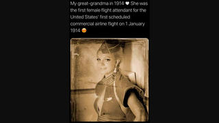 Fact Check: Flight Attendant In Photo Is NOT From 1914, It's Britney Spears