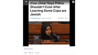 Fact Check: Rep. Ilhan Omar Did NOT Say Police Shouldn't Exist After Learning Some Are Jewish