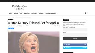 Fact Check: Hillary Clinton Did NOT Face A Military Tribunal On April 8, 2021