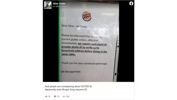 Fact Check: U.S. Burger Kings Do NOT Require ID To Dine-In