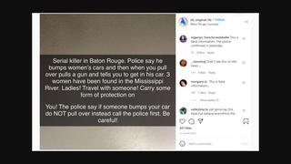 Fact Check: There Is NO Active Serial Killer Investigation In Baton Rouge, LA