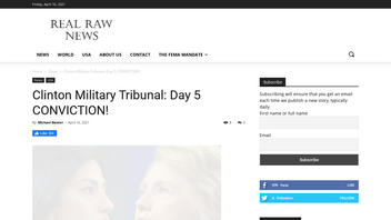 Fact Check: Hillary Clinton Was NOT Convicted By Military Tribunal