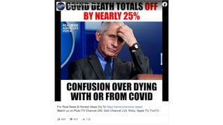 Fact Check: NO Evidence COVID-19 Death Totals Are Off By Nearly 25%