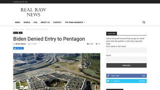 Fact Check: Joe Biden Was NOT Denied Entry To The Pentagon