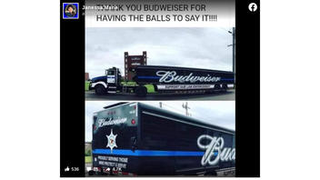 Fact Check: Budweiser Is NOT Putting 'Support Our Law Enforcement' On Its Trucks -- One Local Wholesaler Did