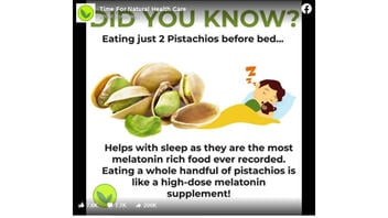 Fact Check: Pistachios Are NOT Proven To Be The Most Melatonin-Rich Food Ever Recorded