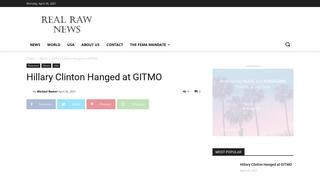 Fact Check: Hillary Clinton Was NOT Hanged At Gitmo