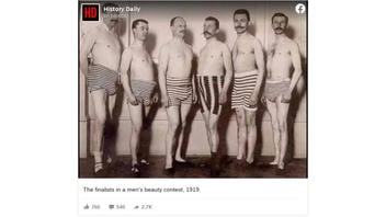 Fact Check: Picture Is NOT Of Finalists From 1919 Men's Beauty Contest