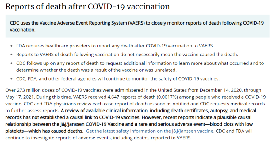 reports of death after COVID19 vax CDC.PNG