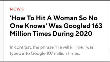 Fact Check: 'How To Hit A Woman So No One Knows' Was NOT Googled 163 Million Times During 2020