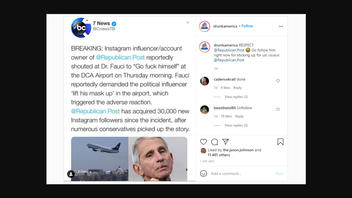 Fact Check: Dr. Fauci Was NOT Insulted By Instagram Influencer At Airport